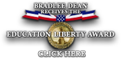 Bradlee Dean receives the Education Liberty Award